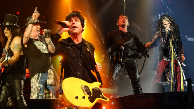 Guns N Roses, Green Day, Iron Maiden und Aerosmith